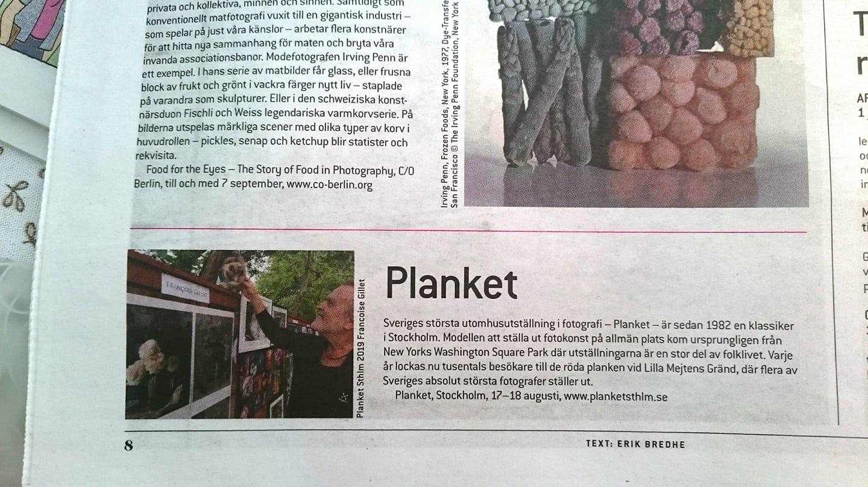 Planket; Planket Sthlm, Fotografiska; Francois Gillet; Fjellis; Lotte Johansson; Fotografi; Utställning; Kulturfestivalen; Nytorgsfesten; Utomhusutställning; bildfest; folkfest